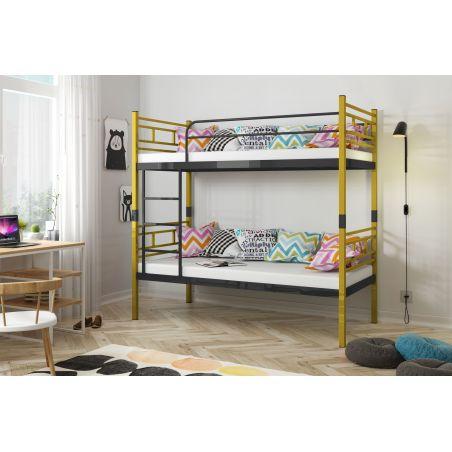 VINI metalowe łóżko piętrowe rozstawne NIEBIESKIE